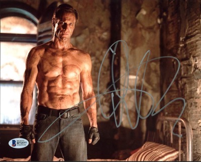 aaron eckhart signed autograph shirtless