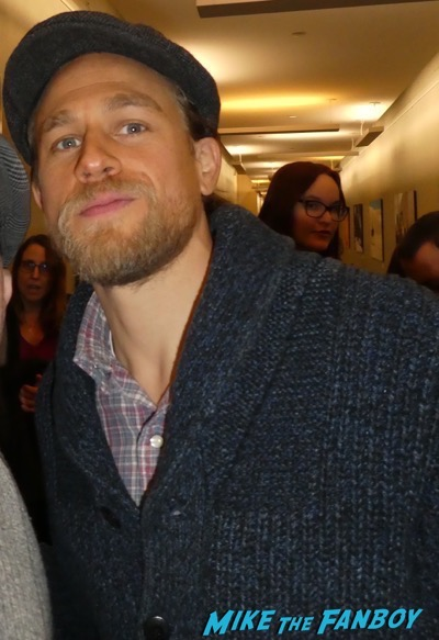 Charlie hunnam meeting fans signing autographs 6