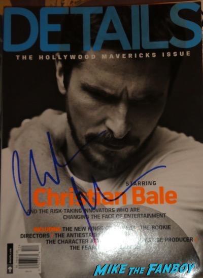 Christian Bale signed autograph details magazine
