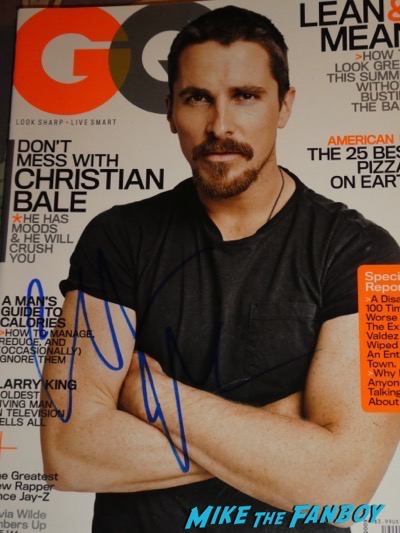 Christian Bale signed autograph GQ magazine