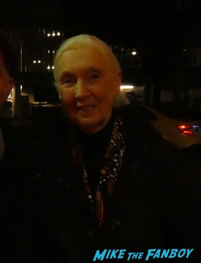 Jane Goodall meeting fans signing autographs signed photo 1