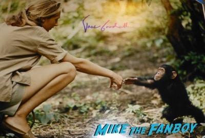 Jane Goodall signed autograph photo psa rare