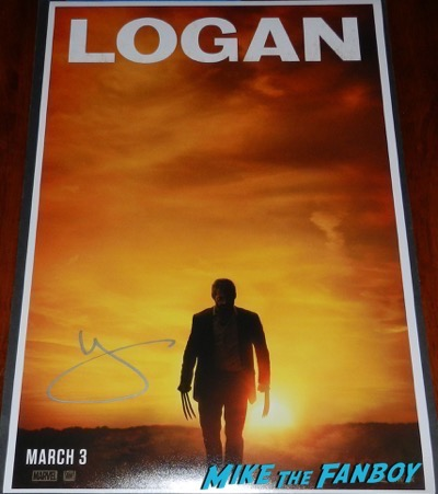 Hugh Jackman signed autograph Logan mini poster PSA