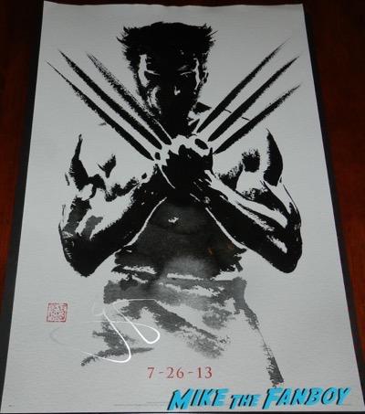 Hugh Jackman signed autograph Wolverine mini poster PSA