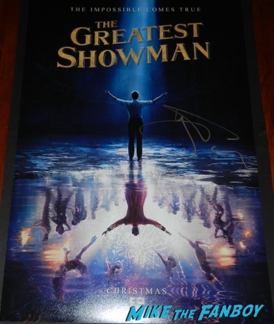 Hugh Jackman signed autograph The Greatest Showman mini poster PSA
