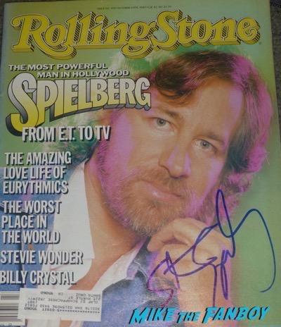 Steven Spielberg signed autograph rolling stone magazine psa rare