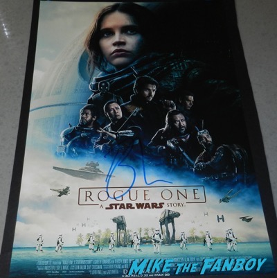 Ben Mendelsohn signed autograph Star Wars Rogue One poster PSA
