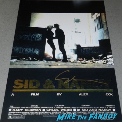 Gary Oldman signed autograph Sid and Nancy poster PSA