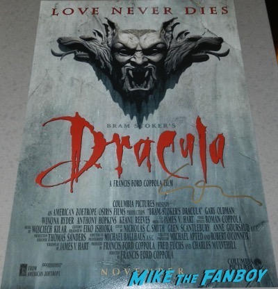 Gary Oldman signed autograph Dracula poster PSA