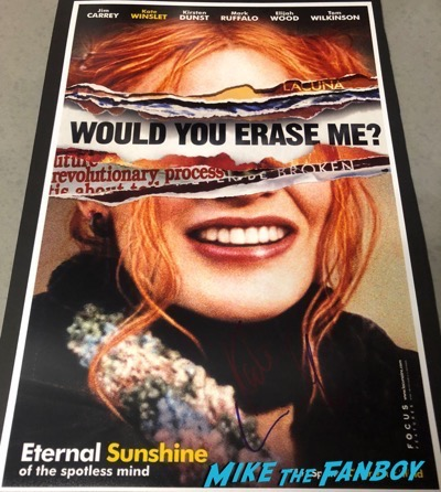 Kate Winslet signed autograph Eternal Sunshine of the Spotless Mind poster psa
