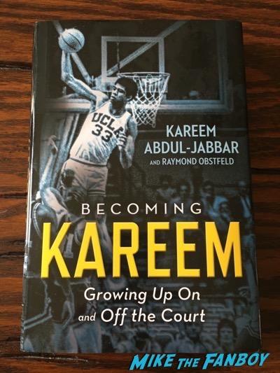 Kareem Abdul-Jabar signed autograph book