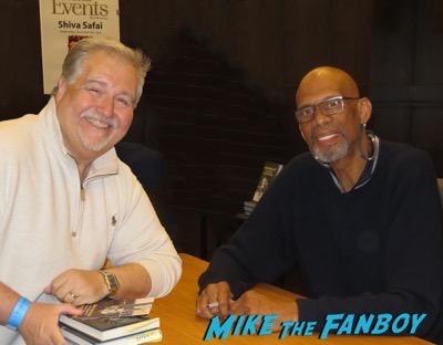 Kareem Abdul-Jabar book signing fan photo autograph
