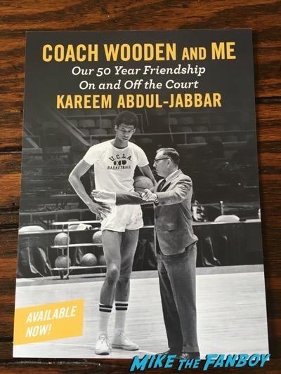 Kareem Abdul-Jabar book signing postcard