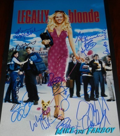 Alanna Ubach reese witherspoon signed autograph legally blonde movie poster psa