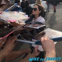 Angelina Jolie meeting fans signing autographs golden globe panel 2018 2