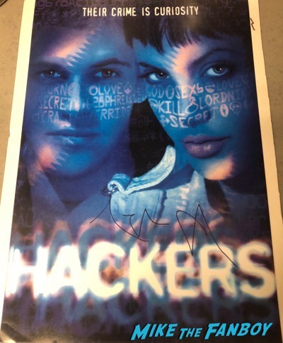 Angelina Jolie signed autograph Hackers poster PSA