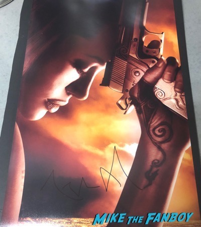 Angelina Jolie signed autograph wanted poster with gun PSA