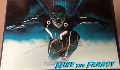 Garrett Hedlund signed autograph Tron Legacy poster psa rare 3