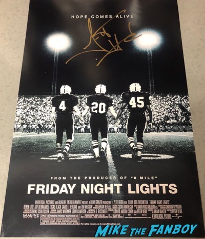 Garrett Hedlund signed autograph Friday night lights poster psa rare 5