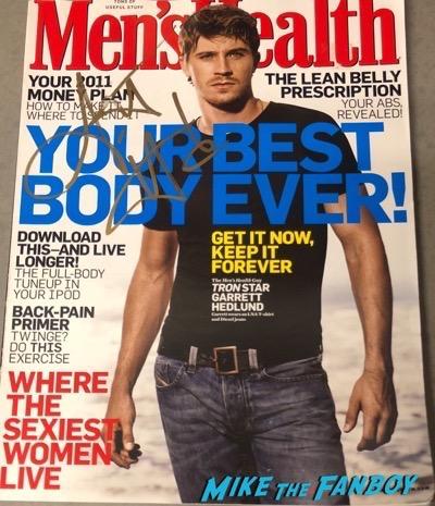 Garrett Hedlund signed autograph poster men's health magazine