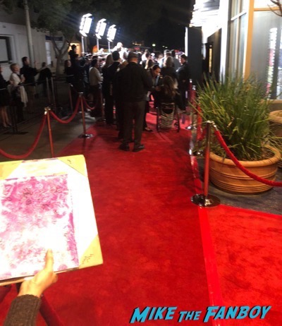 Grace and Frankie premiere signing autographs 7