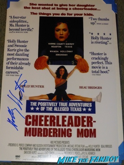 Holly Hunter signed autograph the positively true adventures of the texas cheerleading mom poster