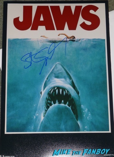 Steven Spielberg signed autograph Jaws poster psa
