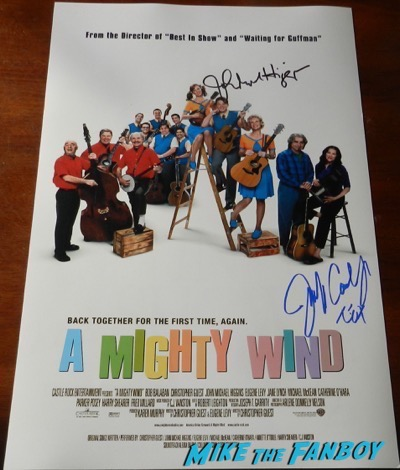 Jennifer Coolidge john michael higgins signed autograph a mighty wind poster psa