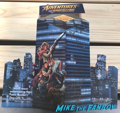 Maia Brewington Keith Coogan adventures in Babysitting counter stand signed autograph
