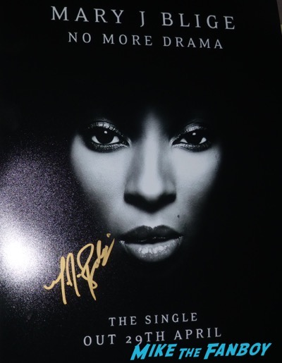 Mary J Blige signed autograph concert poster psa