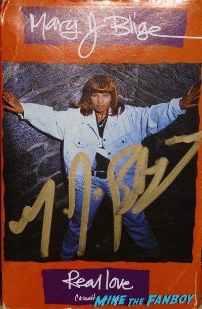 Mary J Blige signed autograph cassette single poster rare psa