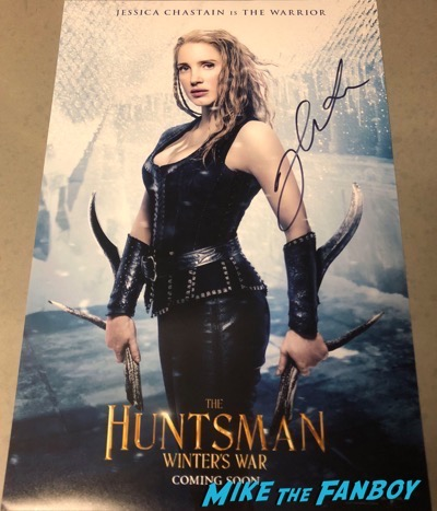 Jessica Chastain signed autograph Huntsman poster