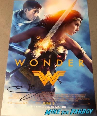 gal gadot signed autograph wonder woman poster gal gadot signed autograph wonder woman poster