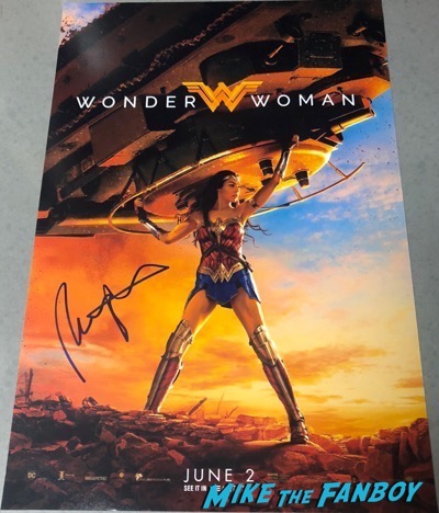 patty jenkins signed autograph wonder woman poster
