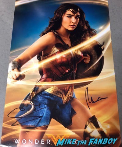 gal gadot signed autograph wonder woman poster