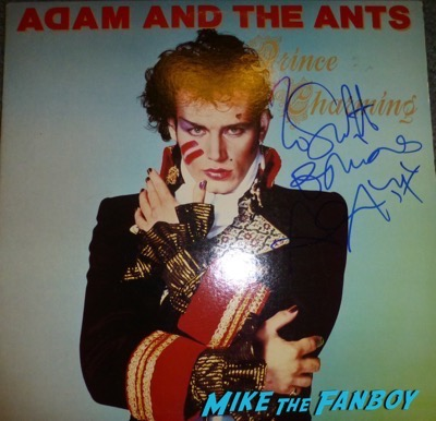 adam ant signed autograph Prince Charming album lp
