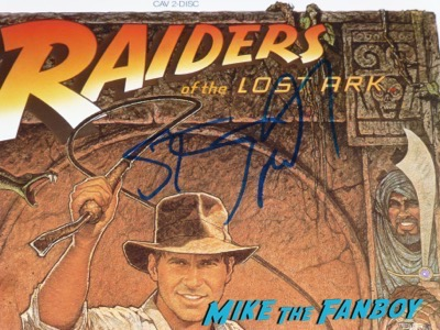Steven Spielberg signed autograph raiders of the lost ark laserdisc psa