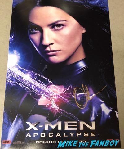 Olivia Munn Signed Autograph X-Men Apocalypse character poster PSA