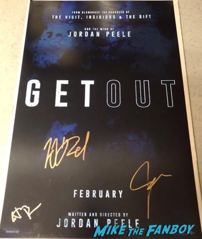 Jordan Peele Signed Autograph Get Out poster PSA