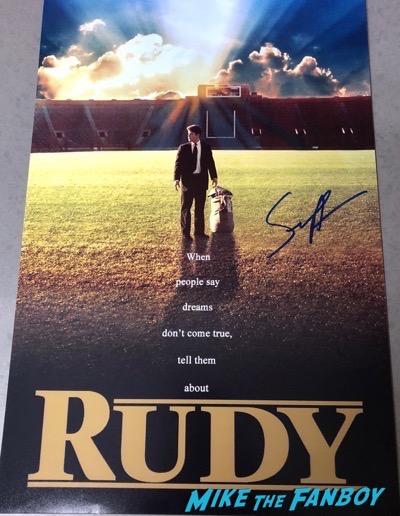 Sean Astin Signed Autograph Rudy PSA