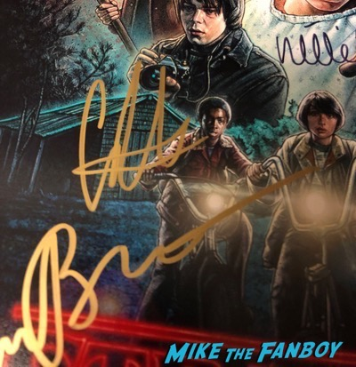 Caleb McLaughlin Signed Autograph Stranger Things Poster PSA
