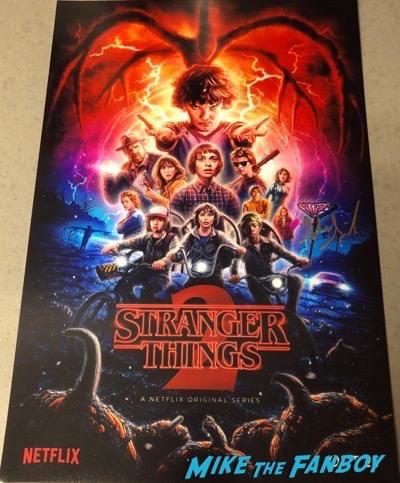 Sadie Sink Signed Autograph Stranger Things 2 Poster PSA