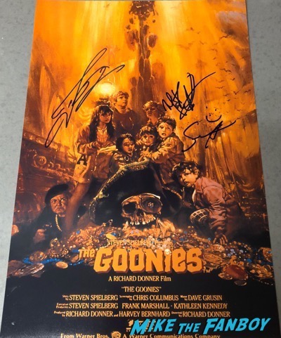 Sean Astin Signed Autograph Goonies Poster PSA