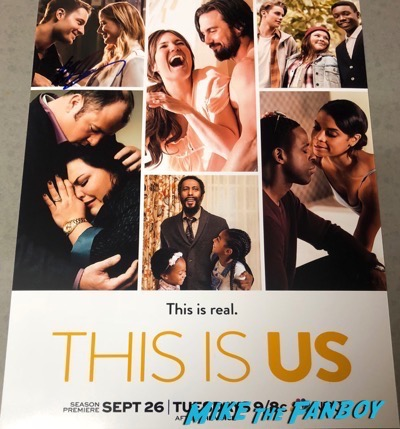 Justin Hartley Signed Autograph This Is Us Poster PSA