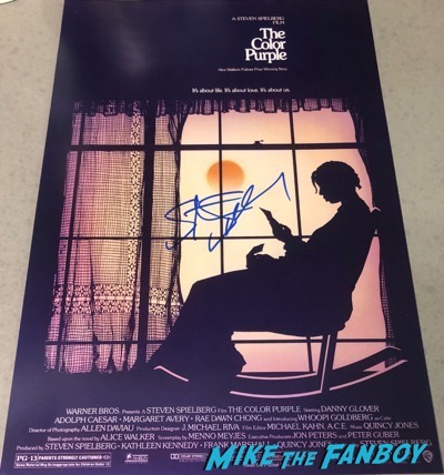 Steven Spielberg signed autograph The Color Purple poster PSA
