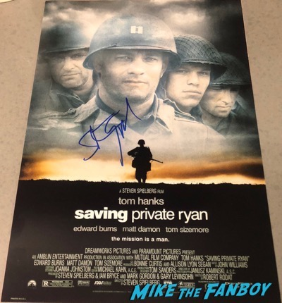 Steven Spielberg signed autograph Saving Private Ryan poster PSA
