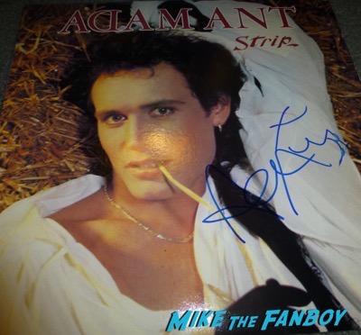 adam ant signed autograph lp album rare