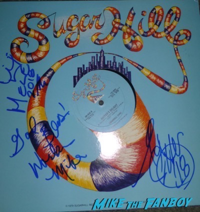 Sugar Hill Gang signed autograph album lp