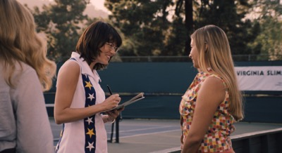 Emma Stone in the film BATTLE OF THE SEXES. Photo courtesy of Fox Searchlight Pictures. © 2017 Twentieth Century Fox Film Corporation All Rights Reserved