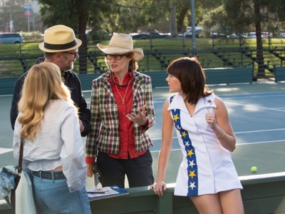 Emma Stone in the film BATTLE OF THE SEXES. Photo courtesy of Fox Searchlight Pictures.© 2017 Twentieth Century Fox Film Corporation All Rights Reserved